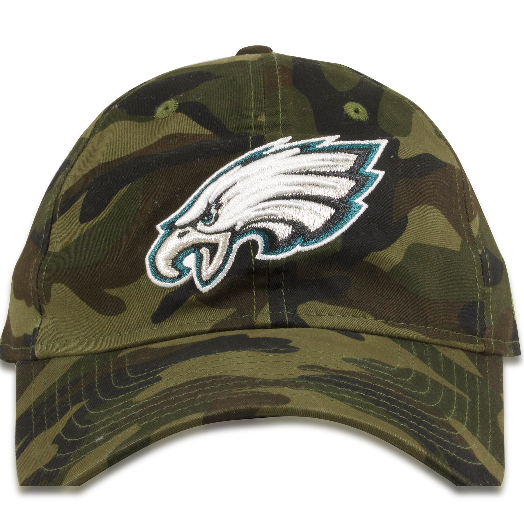 28c491dc Philadelphia Eagles Camouflage 9Twenty White Logo Dad Hat