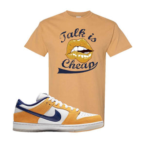 SB Dunk Low Laser Orange T Shirt | Old Gold, Talk is Cheap