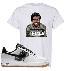 Air Force 1 Low Camo T Shirt | Escobar Illustration, Ash