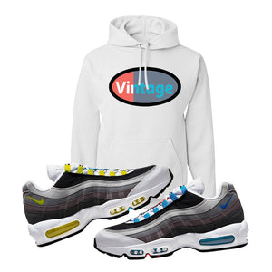 Air Max 95 QS Greedy Hoodie | White, Vintage Oval