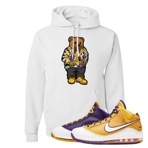 Lebron 7 'Media Day' Hoodie | White, Sweater Bear