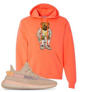 Yeezy Boost 350 Clay V2 Sneaker Hook Up Polo Sweater Bear Heathered Coral Hoodie