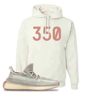 Yeezy Boost 350 V2 Citrin Non-Reflective 350 White Sneaker Matching Pullover Hoodie