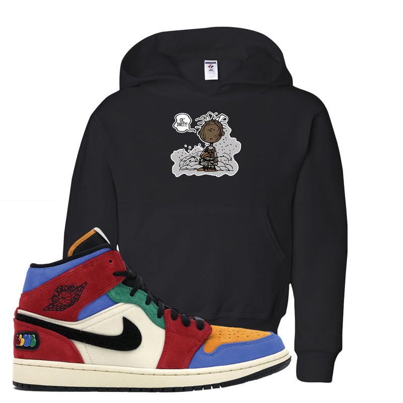 Jordan 1 X Blue The Great Kid's Hoodie | Black, Ol' Dirty