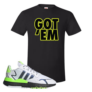 Nite Jogger Signal Green T Shirt | Black, Got Em