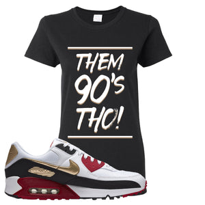 Air Max 90 Chinese New Year Women's T Shirt | Black, Them 90's Tho