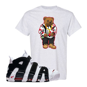 Air More Uptempo White Black Red T Shirt | Ash, Sweater Bear