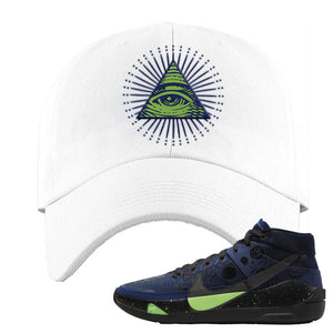 KD 13 Planet of Hoops Dad Hat | All Seeing Eye, White