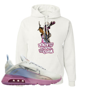 Air Max 2090 Airplane Travel Hoodie | Don't Hate The Playa, White