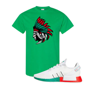 NMD R1 V2 Ciudad De Mexico T Shirt | Irish Green, Indian Chief