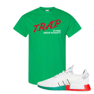 NMD R1 V2 Ciudad De Mexico T Shirt | Irish Green, Trap To Rise Above Poverty