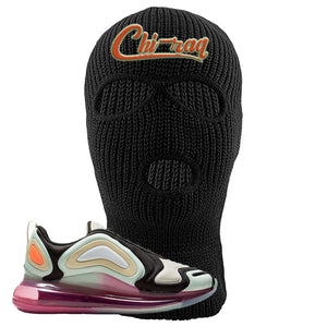 Air Max 720 WMNS Black Fossil Sneaker Black Ski Mask | Winter Mask to match Nike Air Max 720 WMNS Black Fossil Shoes | Chiraq