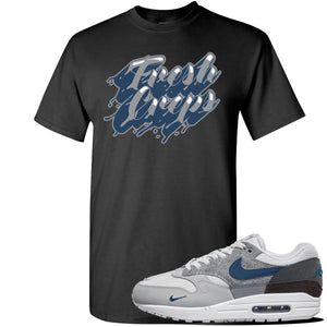 Air Max 1 'London City Pack' Sneaker Black T Shirt | Tees to match Nike Air Max 1 'London City Pack' Shoes | Fresh Creps Only