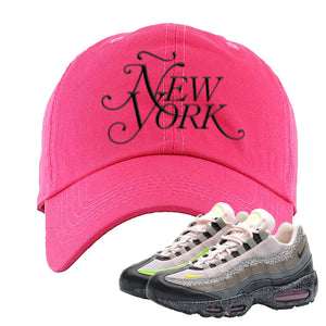 Airmax 95 '20 For 20' Sneaker Pink Dad Hat | Hat to match Nike Airmax 95 '20 For 20' Shoes | Ã'ew York