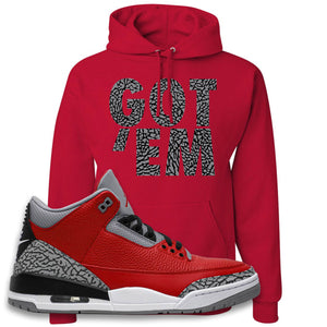 Jordan 3 Red Cement Hoodie | True Red, Got Em