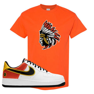 Air Force 1 Low Roswell Rayguns T Shirt | Indian Chief, Orange