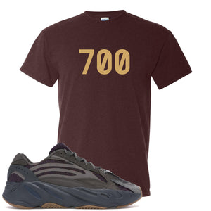 "Yeezy Boost 700 Geode Sneaker Hook Up ""700"" Russet T-Shirt"