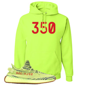 350 Safety Green Pullover Hoodie to match Yeezy Boost 350 V2 Frozen Yellow Sneaker