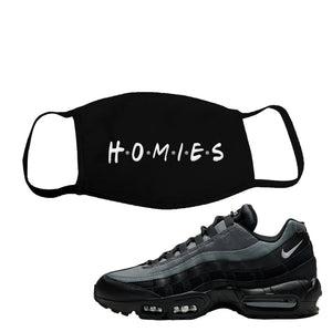 Air Max 95 Black Smoke Grey Face Mask | Homies, Black