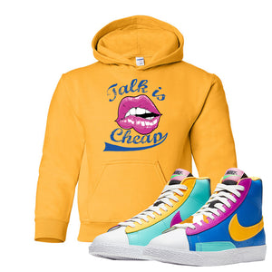 Blazer Mid Big Kids Hoodie | Gold, Talk is Cheap
