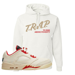 Air Jordan 5 Low Chinese New Year 2021 Hoodie | Trap To Rise Above Poverty, White