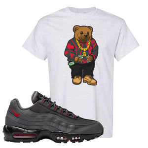 Air Max 95 Dark Gray and Red T Shirt | Sweater Bear, Ash