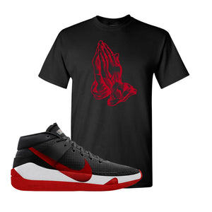 KD 13 Bred T-Shirt | Praying Hands, Black