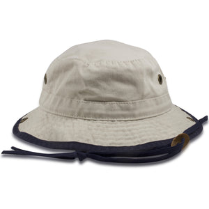Dorfman Pacific Cotton Twill Kid's Sized Khaki Bucket Hat