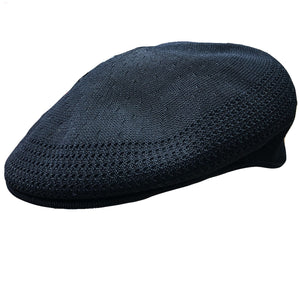 the premium kangol vent air jeff cap is knit for breathability and comfort