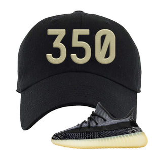 Yeezy Boost 350 V2 Asriel Carbon Dad Hat | 350, Black