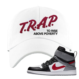 Air Jordan 1 Flyease Dad Hat | White, Trap To Rise Above Poverty
