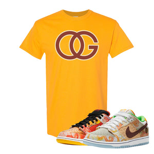 SB Dunk Low Street Hawker T Shirt | OG, Gold
