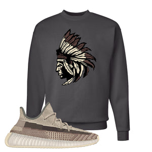 Yeezy 350 v2 Zyon Crewneck | Smoke Grey, Indian Chief