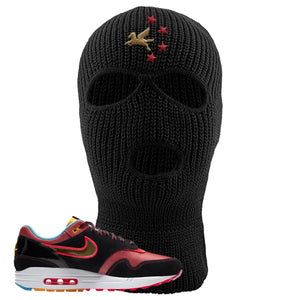Air Max 1 NYC Chinatown Pegasus With Chinese Stars Black Ski Mask To Match Sneakers