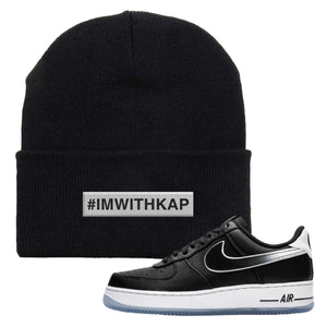 Colin Kaepernick X Air Force 1 Low I'm With Kap Black Sneaker Hook Up Beanie
