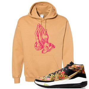 KD 13 Hype Hoodie | Old Gold, Praying Hands