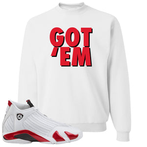 Jordan 14 Rip Hamilton Got 'Em White Crewneck Sweater