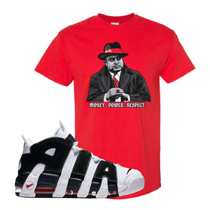 Air More Uptempo White Black Red T Shirt | Red, Capone Illustration