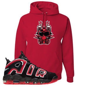 Air More Uptempo Laser Crimson Hoodie | Red, Sneaker Mask
