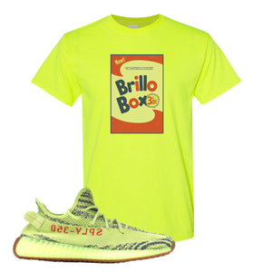 Brillo Box Safety Green T-Shirt to match Yeezy Boost 350 V2 Frozen Yellow Sneaker