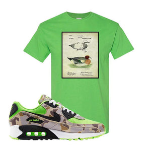 Air Max 90 Duck Camo Ghost Green T Shirt | Electric Green, Decoy Duck