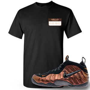 Foamposite Pro Hyper Crimson Sneaker Hook Up Hello My Name Is Hype Beast Woe Black T-Shirt
