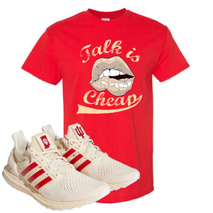 Adidas Ultra Boost 1.0 Indiana T-Shirt | Talk Is Cheap, Red