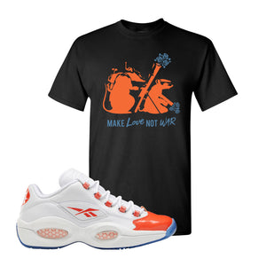 Question Low Vivid Orange T-Shirt | Army Rats, Black