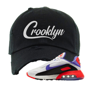 Air Max 2090 Evolution Of Icons Distressed Dad Hat | Crooklyn, Black