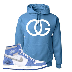 Air Jordan 1 High Hyper Royal Pullover Hoodie | OG, Columbia Blue