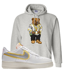 Air Force 1 Low 07 LX White Gold Hoodie | Sweater Bear, Ash