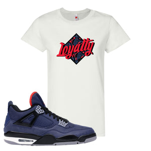 Jordan 4 WNTR Loyal Blue Loyalty White Sneaker Hook Up Women's T-Shirt