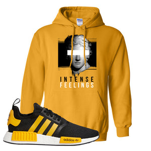NMD R1 Active Gold Hoodie | Gold, Intense Feelings