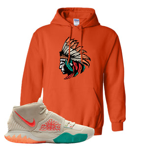 Kyrie 6 N7 T Shirt | Orange, Indian Chief